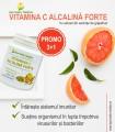 Vitamina C Alcalina Forte,150 gr pulbere,3+1 GRATUIT
